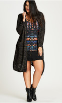 City Chic Colored Space Dye Cardigan