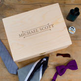 Dust and Things Men's Personalised Wooden Accessory / Jewellery Box