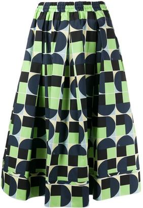 Fay Geometric Print Skirt