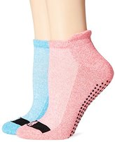 Steve Madden Women's Low Cut Barre Sock with Grippers 2-Pack