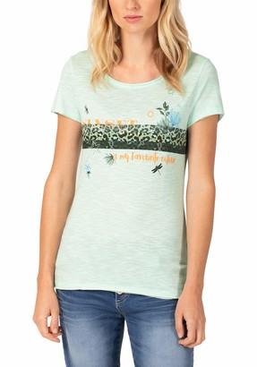 Timezone Women's Printed Basic Roundneck T-Shirt