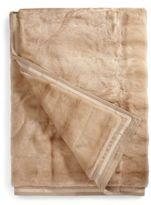 Yves Salomon Large Mink Fur Blanket/Honey