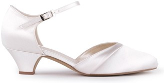 Paradox London Satin 'Angela' Low Heel Two Part Court Shoe