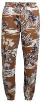 Etro Gazebo Tree-print linen trousers