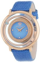 Versace Women's VFH070013 Venus Rose Gold Ion-Plated Stainless Steel Blue Genuine Topaz Diamond Watch