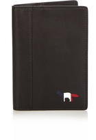 MAISON KITSUNÉ Fox-panel leather passport holder