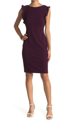 Calvin Klein Ruffle Accent Sheath Dress