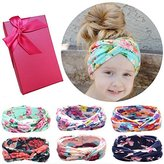 Elesa Miracle Hair Accessories Lovely Baby Girl's Gift Box with Bow Flower Hair Headband