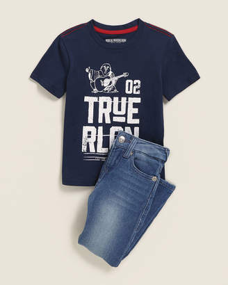 True Religion Toddler Boys) Two-Piece Graphic Tee & Jeans Set