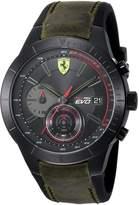 Ferrari Men's 'REV EVO CHRONO' Quartz Resin and Leather Casual Watch, Color:Red (Model: 0830397)