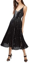 Topshop Women's Sequin Pleated Dress