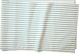 Maison Du Linge Stripe Table Runner, Blue/Ecru