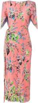 Diane von Furstenberg floral midi dress