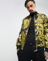 Versace Jeans Bomber Jacket With All Over Print