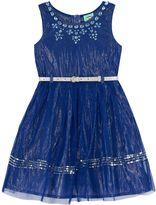 Uttam Girls Embellished Party Dress