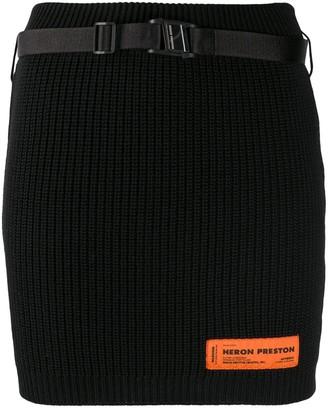 Heron Preston Ribbed Knit Mini Bodycon Skirt