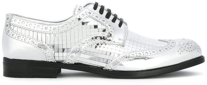 Dolce & Gabbana mirrored brogues