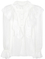 Dolce & Gabbana Silk-blend Blouse With Lace