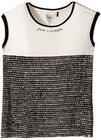 Ikks Jersey Top with All Over Print & Banded Neckline (Big Kids)