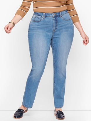 Talbots Plus Size Exclusive Straight Leg Jeans - Curvy Fit - Fillmore Wash