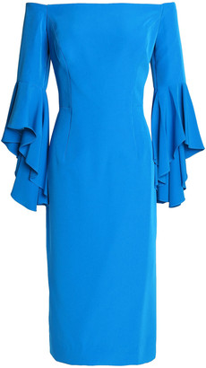 Milly Selena Off-the-shoulder Cady Dress
