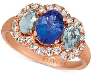 LeVian Le Vian Multi-Gemstone (1-3/4 ct. t.w.) & Nude Diamond (1/2 ct. t.w.) Ring in 14k Rose Gold