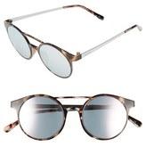 Le Specs Women's 'Demo Mode' 49Mm Aviator Sunglasses - Black Rubber