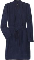 Brushed-silk shirt dress