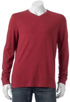 Croft & Barrow Big & Tall Classic-Fit Easy-Care V-Neck Tee