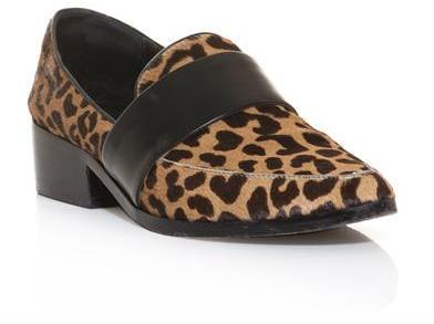 3.1 Phillip Lim Quinn leopard pony skin loafers