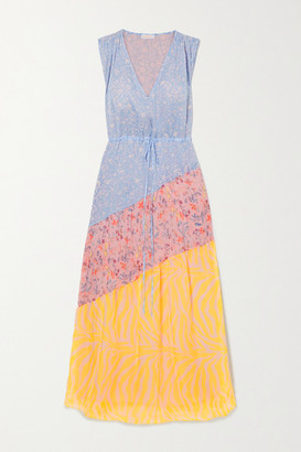 Eywasouls Malibu Natalia Paneled Printed Voile Maxi Dress - Light blue