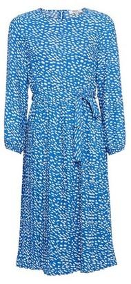 Dorothy Perkins Womens Dp Petite Blue Spot Print Pleat Skater Dress, Blue