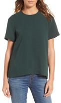 Madewell Women's Back Button Crepe Top