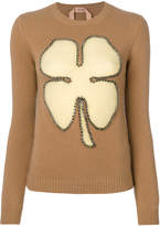 No.21 studded clover jumper