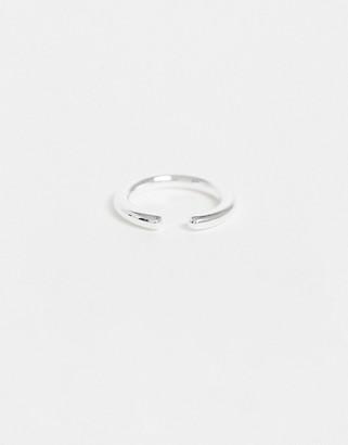 Orelia silver single ear cuff