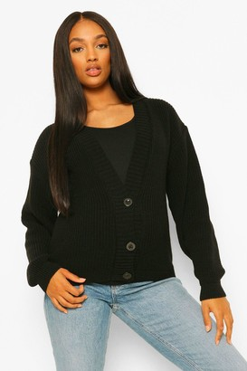 boohoo Maternity Button Front Cardigan