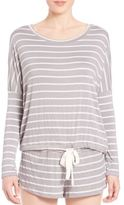 Eberjey Striped Slouchy Lounge Top