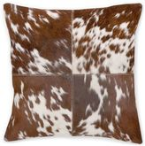 Aura Mustang Hair on Hide 20-Inch Square Throw Pillow in Brown