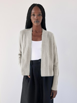 White + Warren Cashmere Ruched Back Cardigan