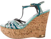 Louis Vuitton Patent Leather Wedge Sandals