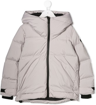 AI Riders On The Storm Hooded Puffer Coat