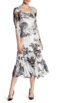 Komarov Lace Sleeve Midi Dress