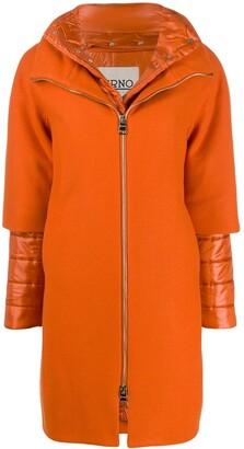 Herno layered zip-up coat
