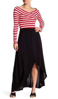 Love, Fire Faux Wrap Maxi Skirt