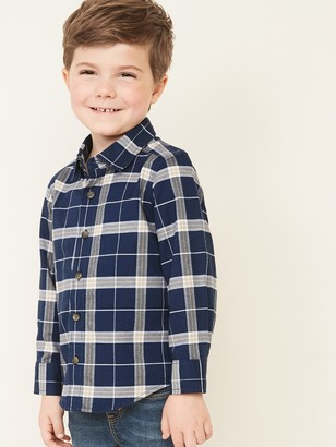 Old Navy Plaid Long-Sleeve Oxford Shirt for Toddler Boys