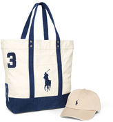 Polo Ralph Lauren Pony Cap & Tote Gift Set