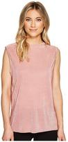Catherine Malandrino Sleeveless High-Low Split Top Women's Clothing