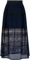Self-Portrait Crosshatch midi skirt