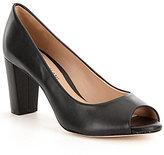 Antonio Melani Blayna Leather Peep Toe Pumps