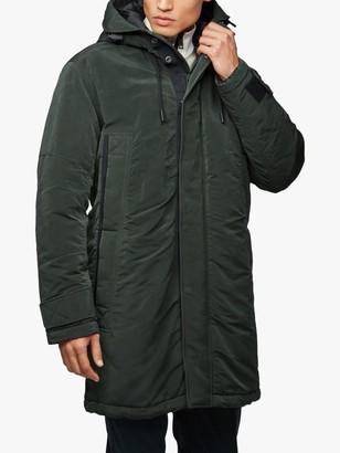 HUGO BOSS BOSS Onorth Waxed PrimaLoft Insulated Parka Jacket, Open Green
